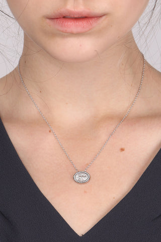 Mini Dove W/ White Diamond Necklace