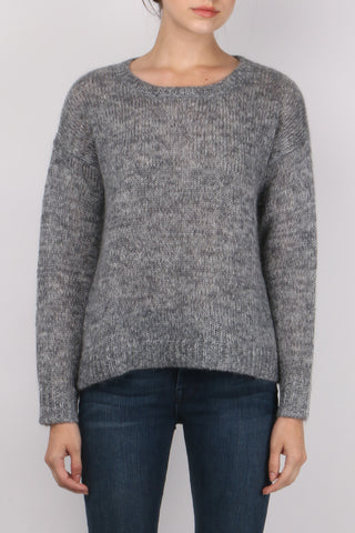 Mohair Boat Neck Pullover