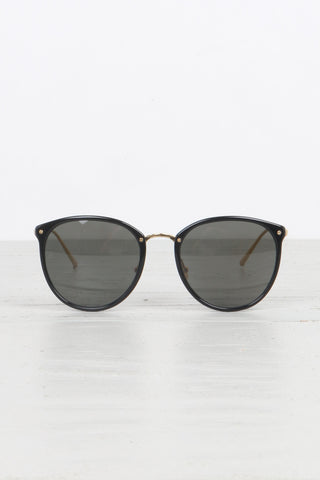 Oversized Round Glasses in Black