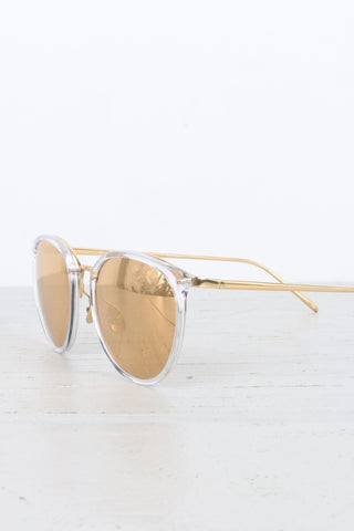 Oval Sunglasses in Clear