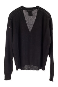 V-Neck Black Cardigan