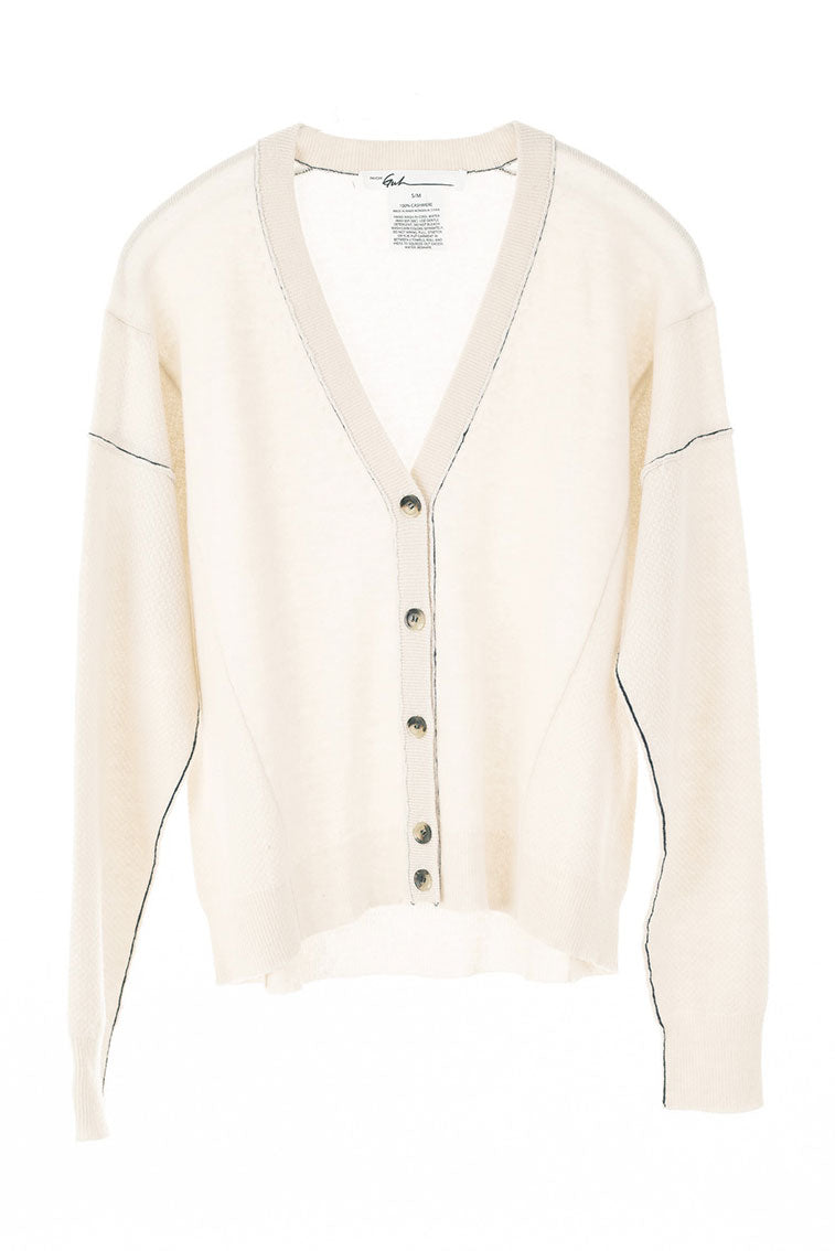 V-Neck Cream Cardigan