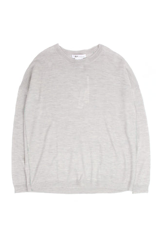 L/S Textured Cloud Grey Crew
