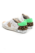 Load image into Gallery viewer, Philippe Model White Leopard Neon Low Top Sneakers