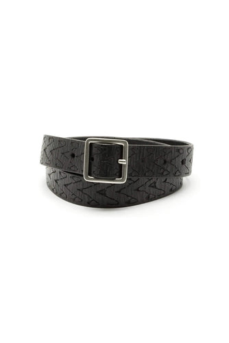 Embossed Black Belt