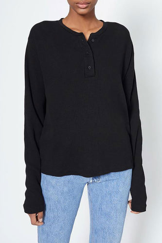 Henley Thermal Long Sleeve Tee