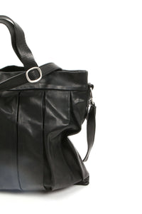 Medium Size Black Tote  Called Linda From Rita Merlini Italy
