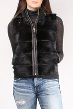 Load image into Gallery viewer, Short Black Vest With Hood