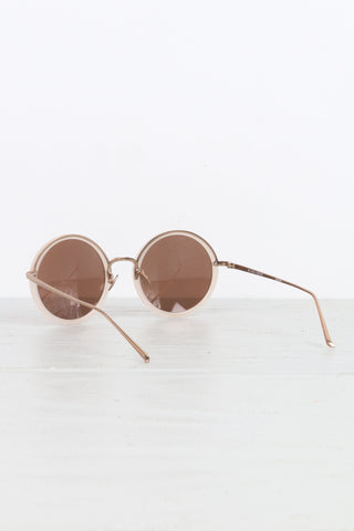 Round Sunglasses in Milky Pink
