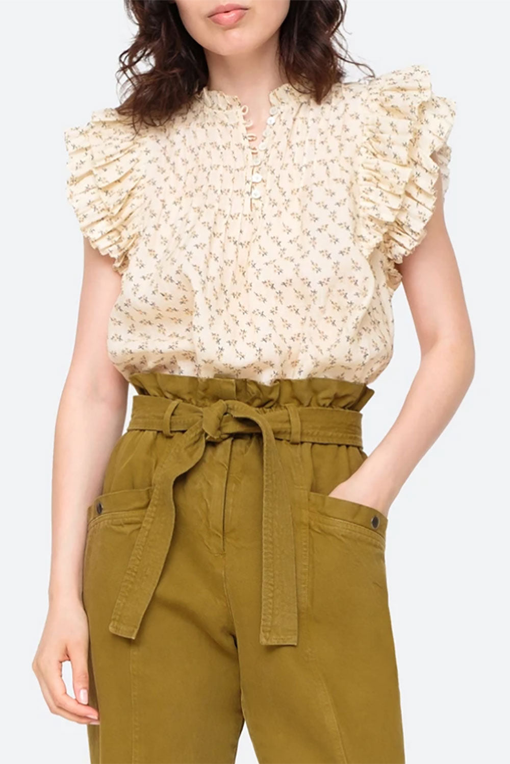 Ditsy Cream top