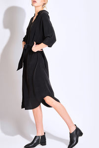 Byron Black Shirt Dress