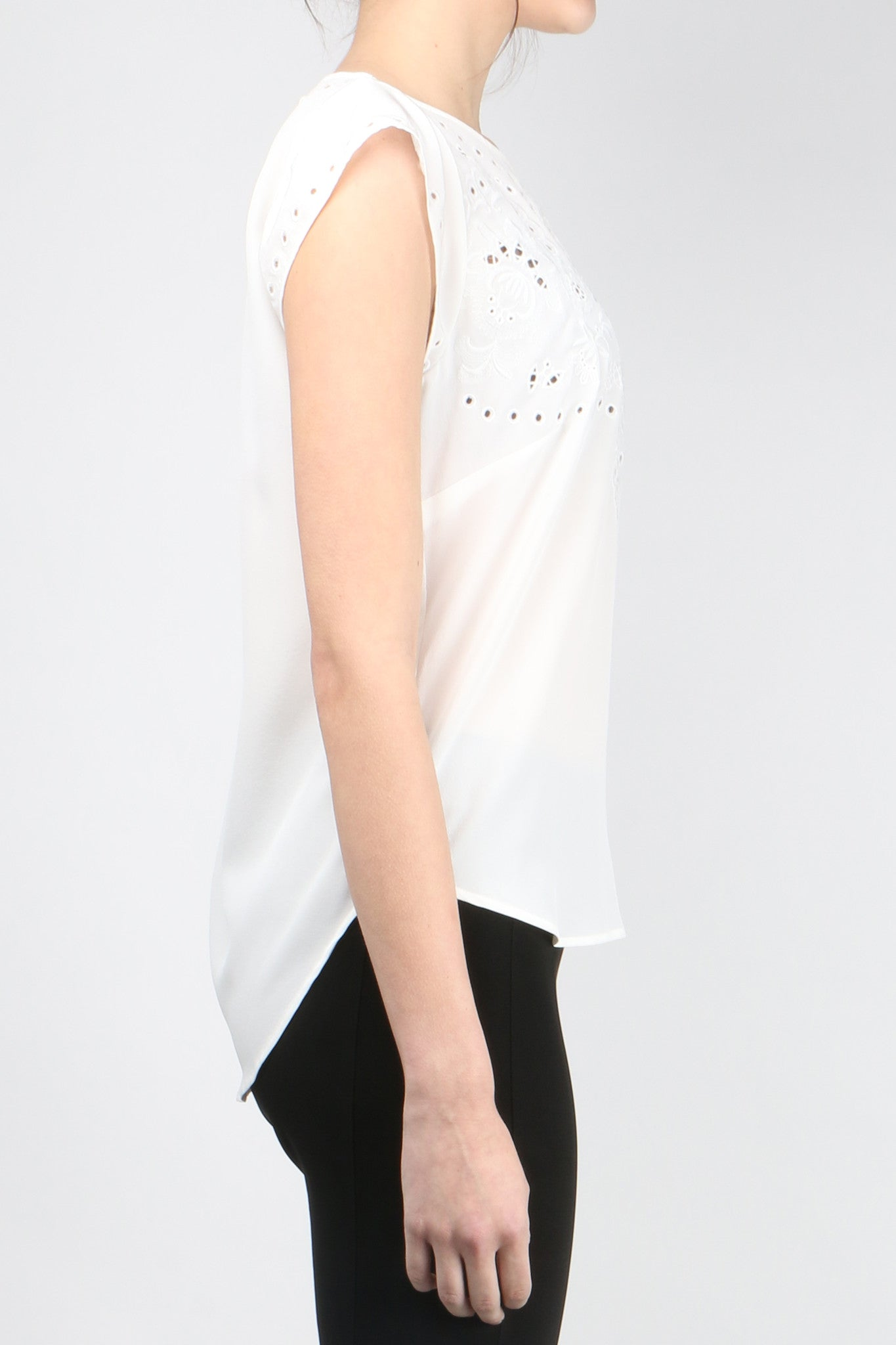 Melia Embroidered Shell Side