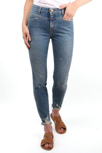 Skinny Pusher Raw Hem