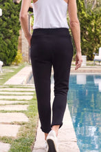 Load image into Gallery viewer, Tulip Ankle Black Sweatpant