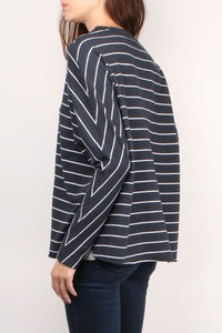 Oversized Striped Sweatshirt