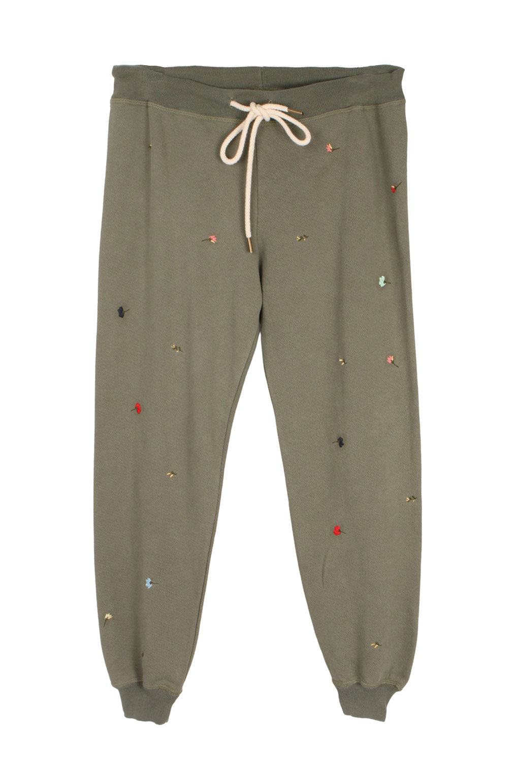 The Cropped Sweatpant w/ Tossed Floral