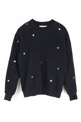 The College Sweatshirt W/ Seed Floral