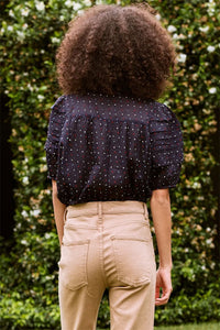 The Embroidered Dot Mare Top