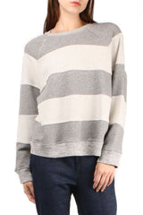 The Reverse Stripe Slouch Sweatshirt