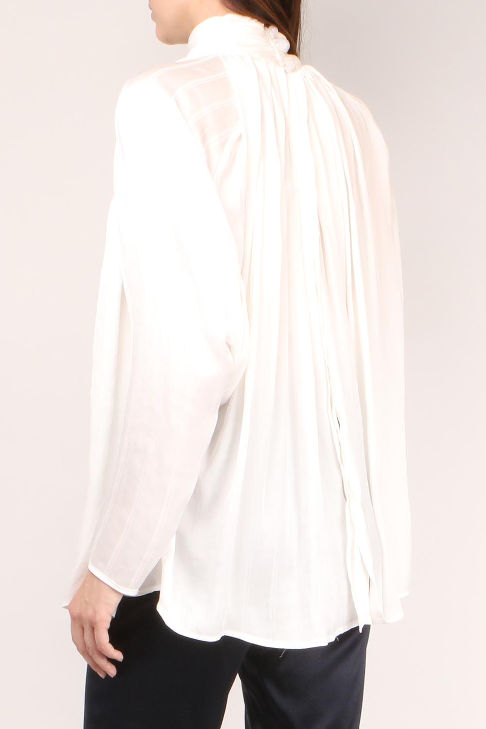 Turtleneck Drape Blouse