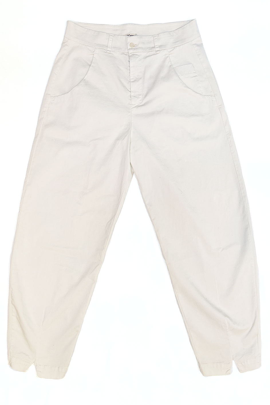 Cotton Trousers Chalk