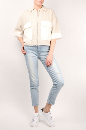 Crop Jacket W/ Pocket