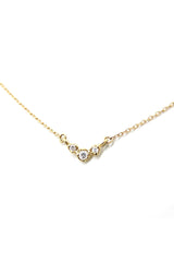 N + A Three Buds Necklace in Yellow Gold