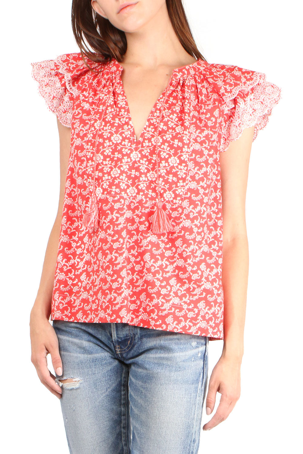 Elm Poppy Floral Top