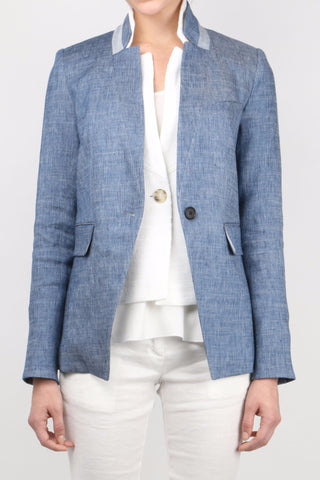 Orchid Upcollar Jacket w/ White Upcollar Dickey