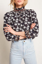 Load image into Gallery viewer, Ines Navy Floral Blouse