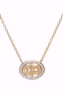 114 Mini Hamsa + Eye Gold Diamond