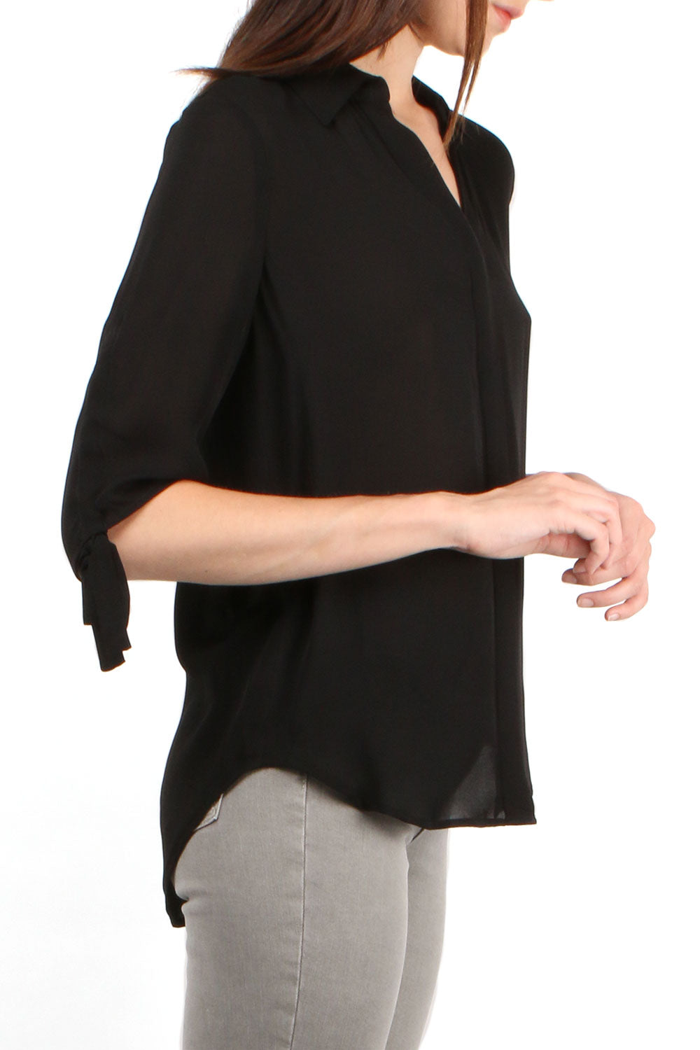 Isla Black Blouse