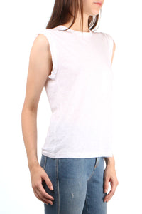 Dree White Muscle Tee