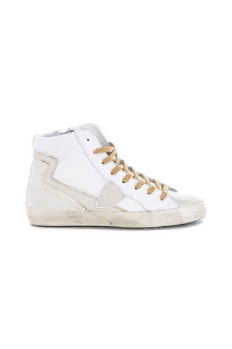 Paris White High Top