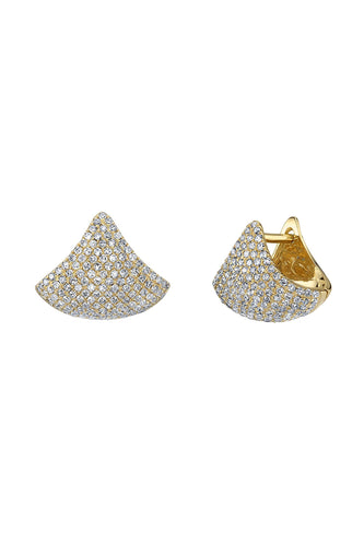 Small Apse Earrings Pave
