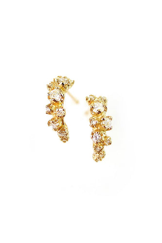 Wisteria Earrings W/ Diamond