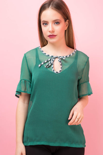Top Darielle Verde Transparent