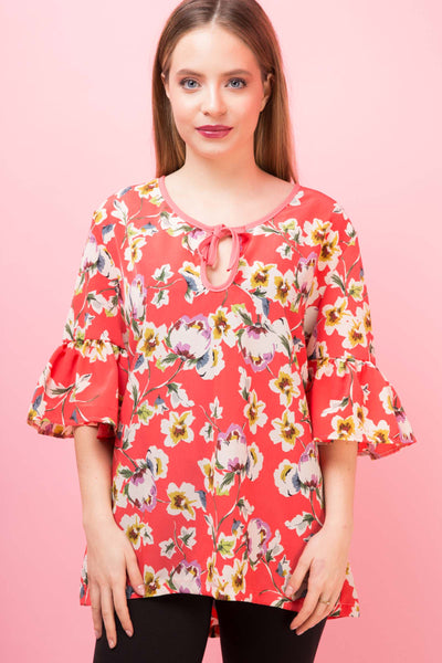 Top Darielle Print Peach