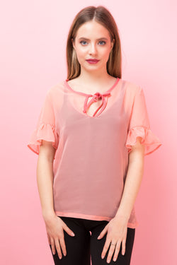 Top Darielle Roz Transparent