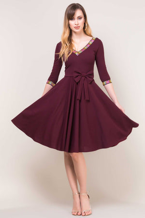 Rochie Carrie Marsala