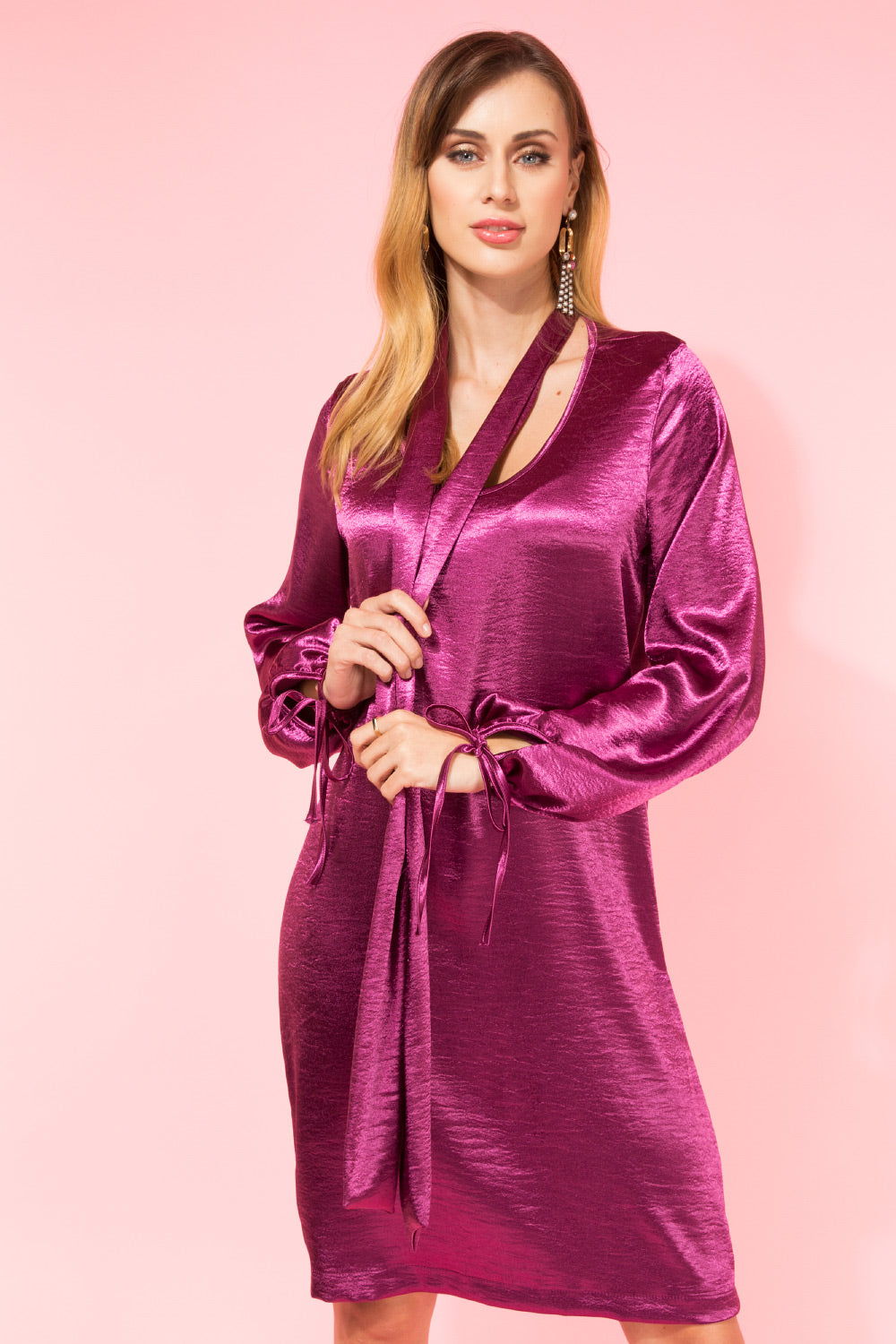 Rochie Holly Satin Mov
