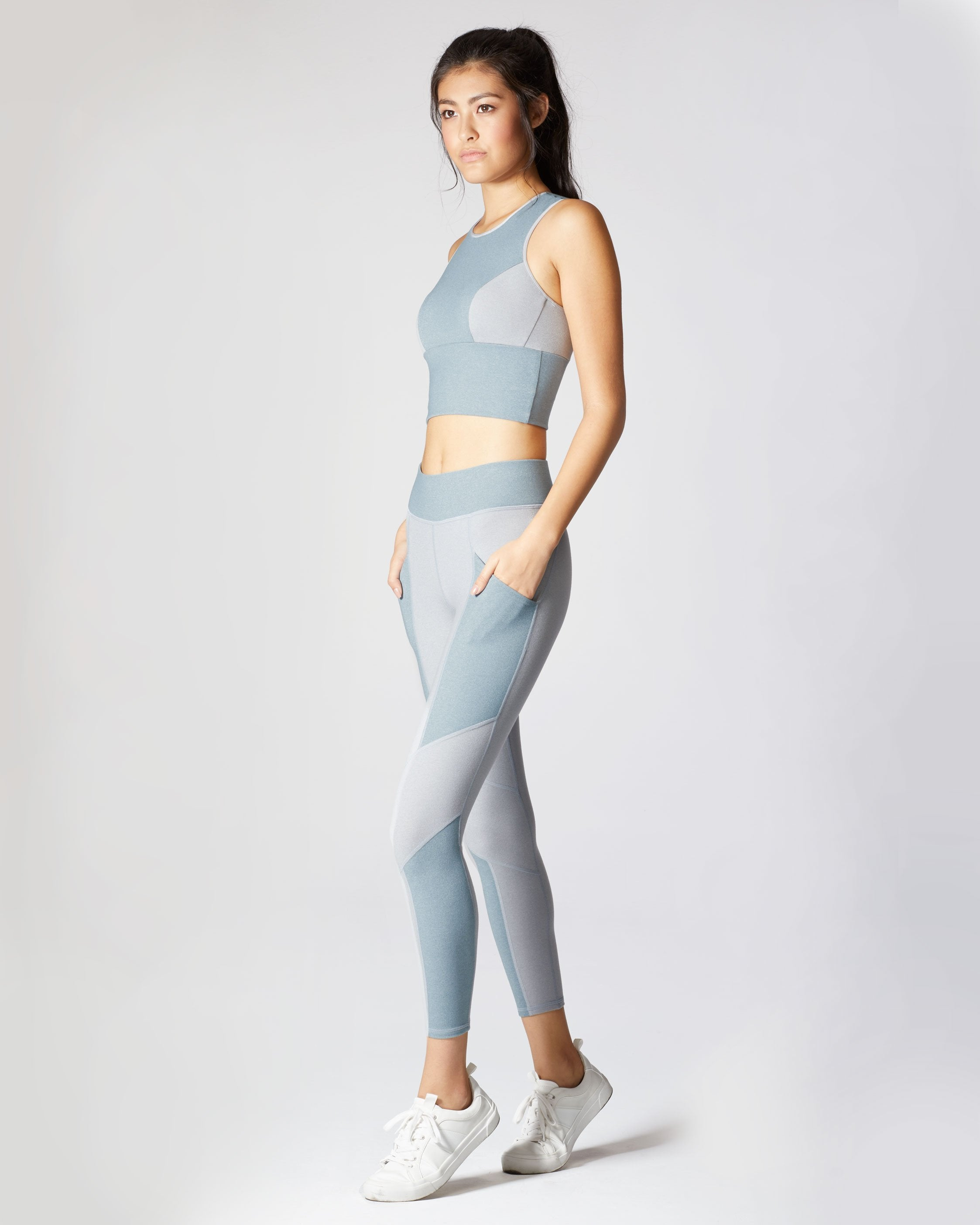 Aura Crop Top - Angelite Blue