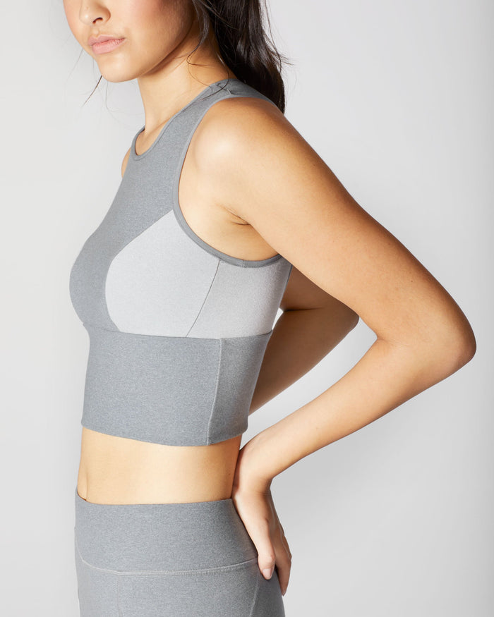 Aura Crop Top - Granite Grey