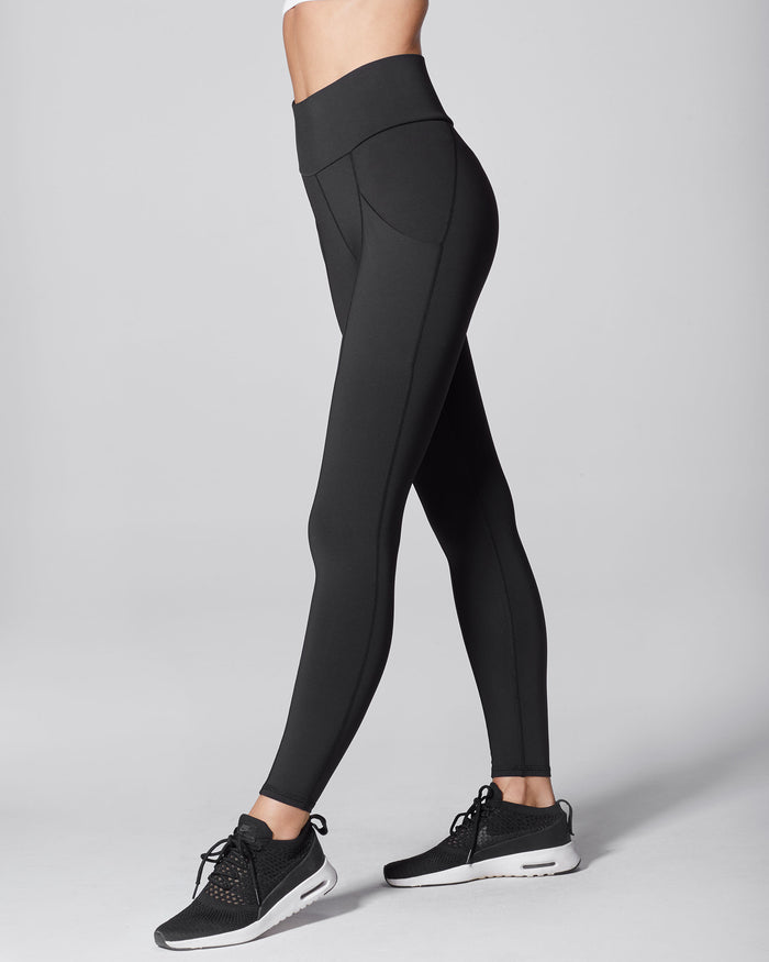 Fusion High Waisted Pocket Legging - Black