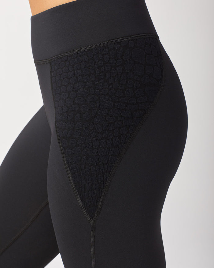 Shadow Legging - Black/Black Croc