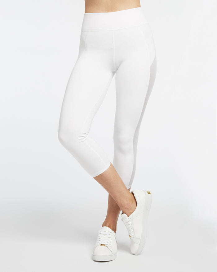 Stardust Crop Legging - White