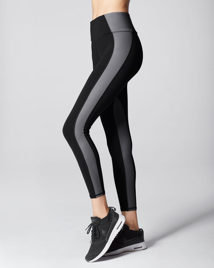 Vibe High Waisted Legging - Black/Gunmetal