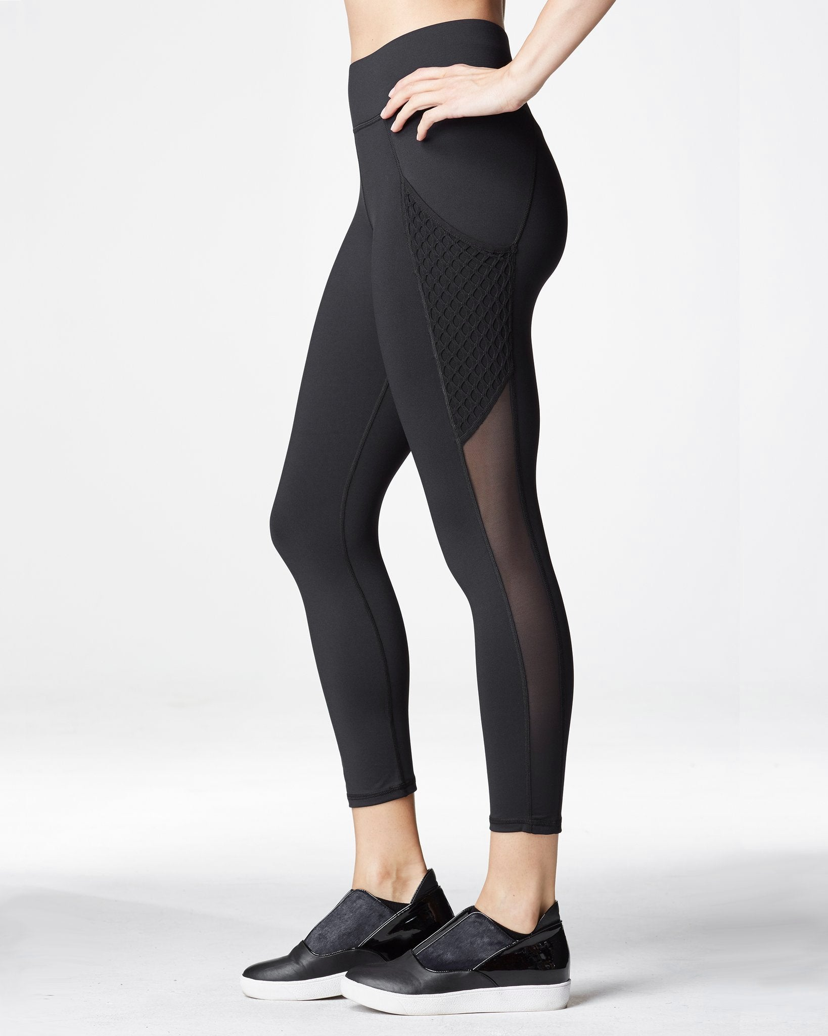 Stardust Crop Legging w/ Pocket - Black