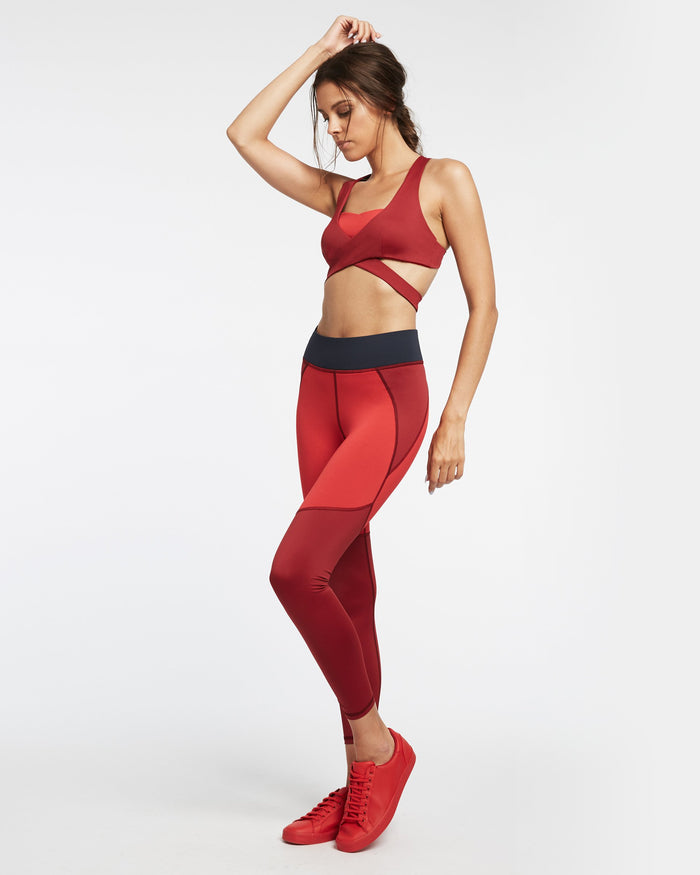 Tidal Legging - Fire Red/Earth Red/Deep Sea Navy