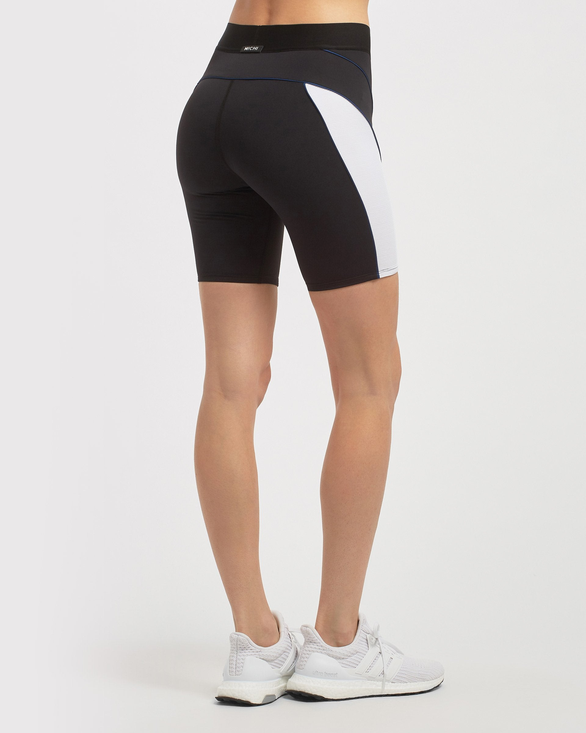 Vortex Bike Short - Black/White/Adriatic Blue